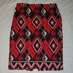 Red & black skirt
